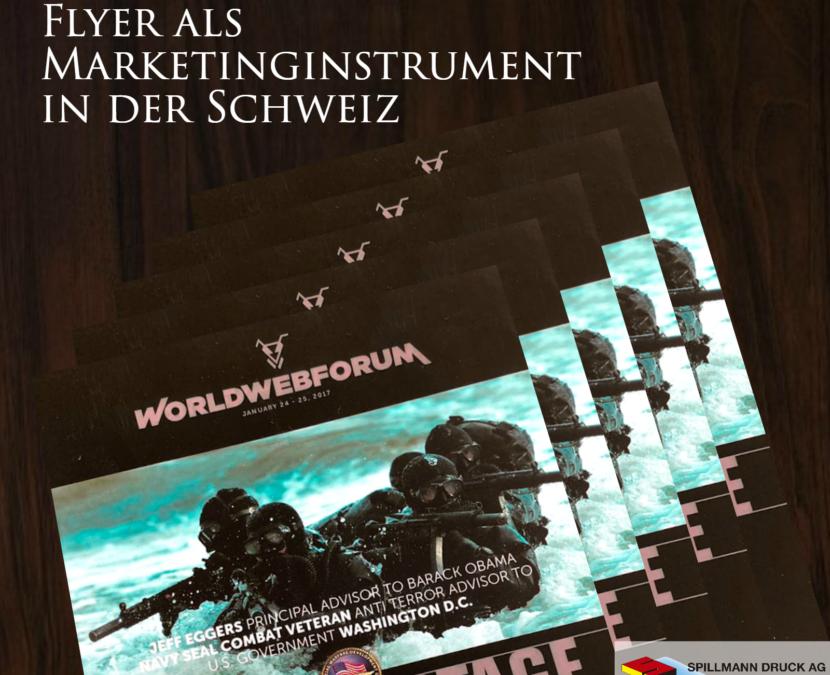 Flyer als wichtigstes Marketinginstrument in der Schweiz